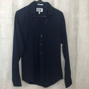 Express Extra Slim Fit blue buttons down shirt S